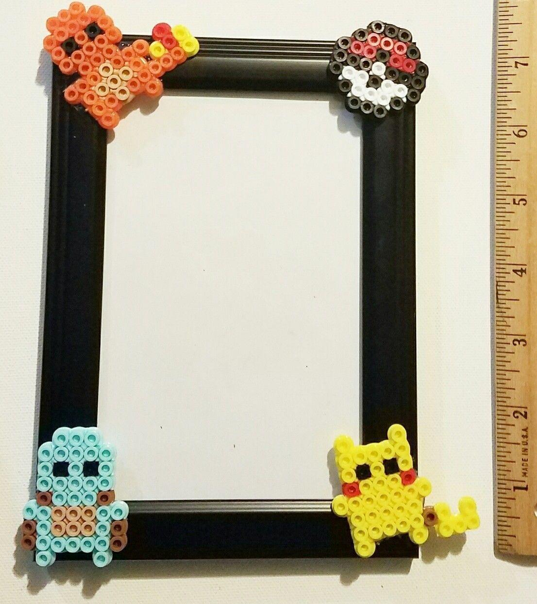 Pokemon Pikachu Charmander Squirtle Pokeball perler bead art