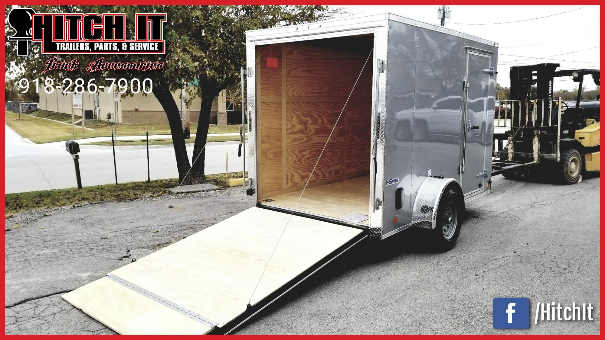 6 X 10 Continental Cargo Hitch It Trailers Sales Parts Service Truck Accessories 5866 S 107th E Enclosed Cargo Trailers Utility Trailer Trailers For Sale