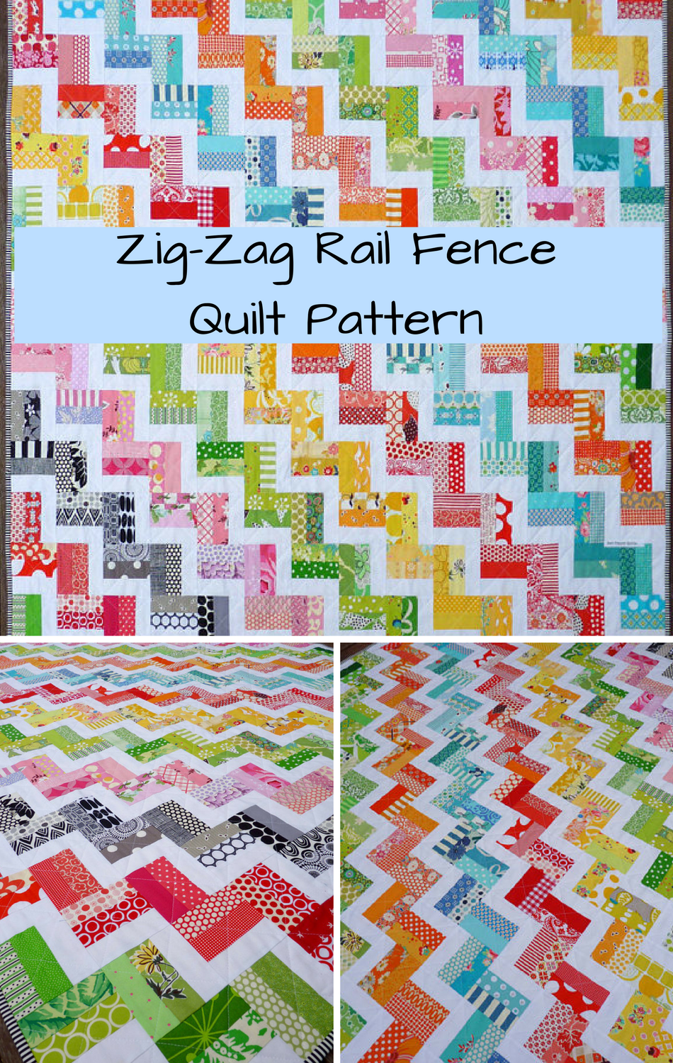 Zig Zag Rail Fence Quilt Pattern PDF by Red Pepper Quilts ...