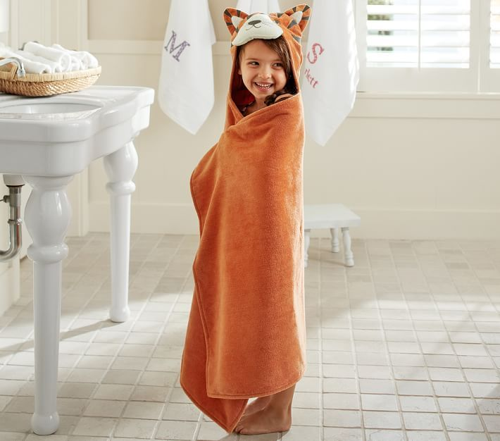 Make bath time extra fun by giving each child a towel set with colors and patterns selected just for them.