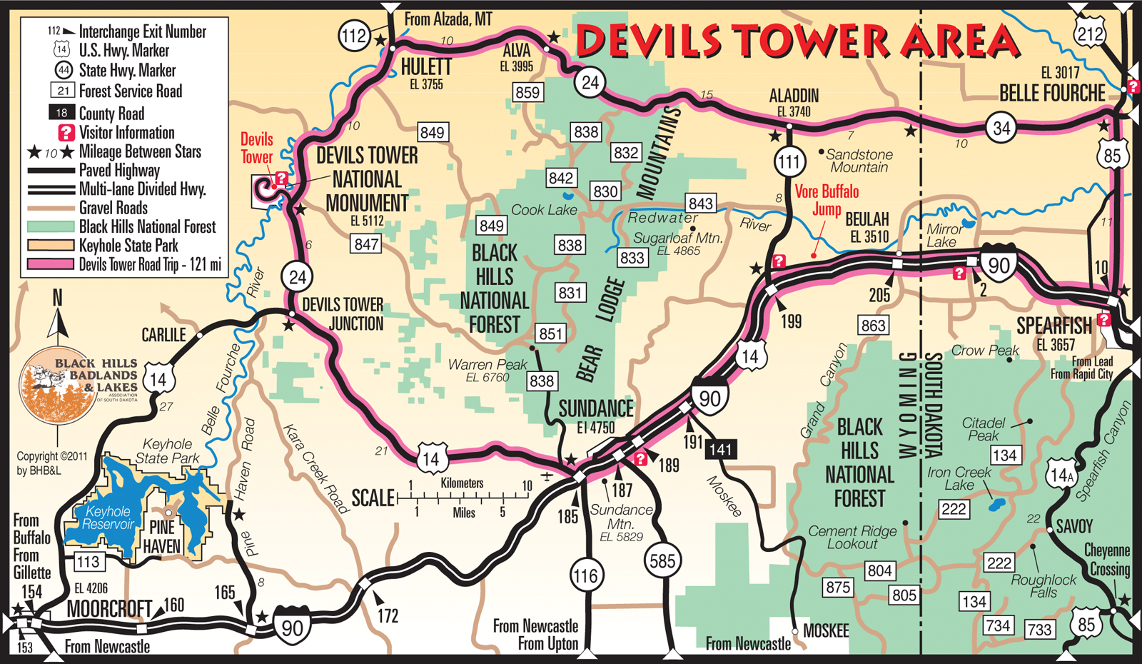 Map Your Route Hulett Chamber Of Commerce