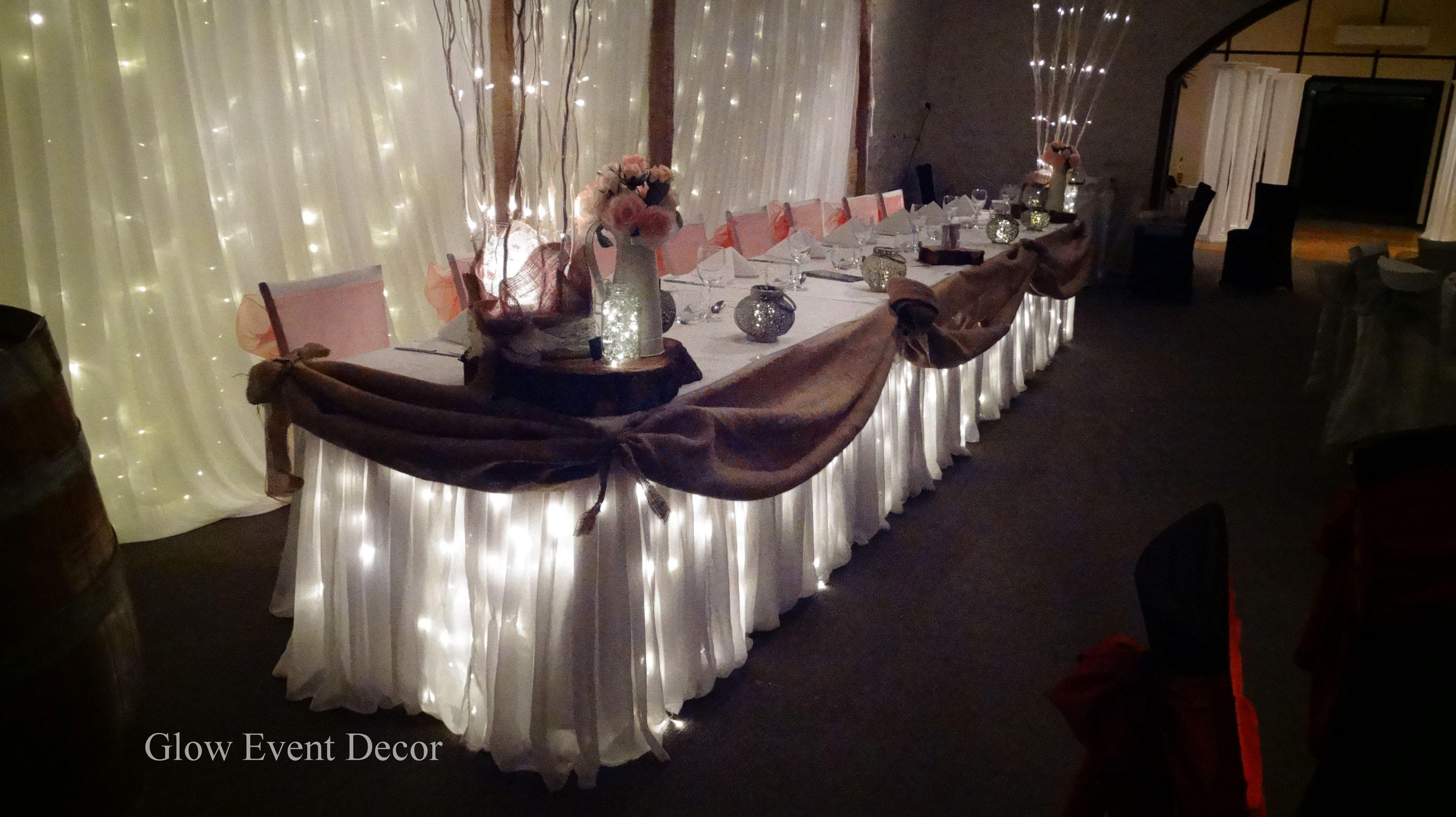 Rustic hessian bridal table twinkle fairy lights with rustic twinkle rustic hessian bridal table twinkle fairy lights with junglespirit Choice Image