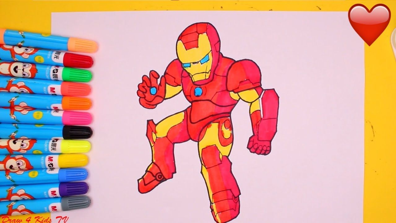 Ironman Coloring Pages Teach Children To Draw Ironman Learning Videos For Kids Teaching Kids Drawing For Kids Coloring Pages