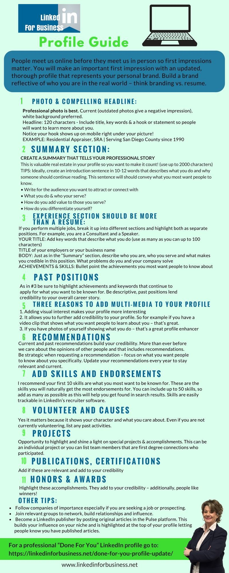 Designing a compelling linkedin profile guide infographic