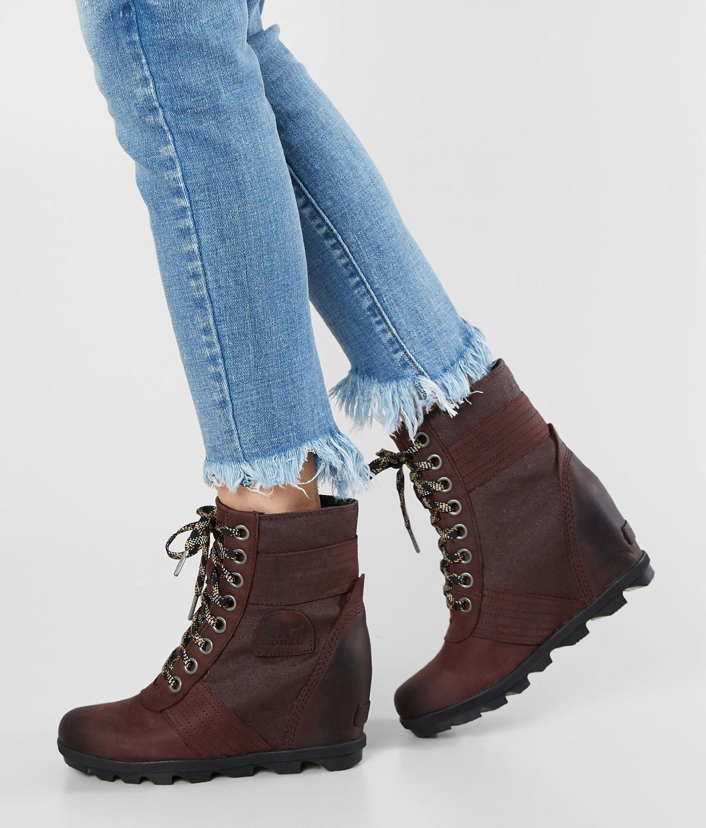 86341c863e Sorel Lexie™ Leather Wedge Boot - Women s Shoes in Cattail