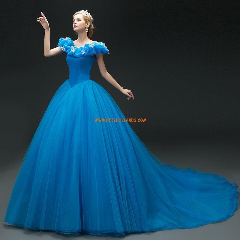 Cinderella Tyll Ballkjole Quinceanera Kjoler 2016
