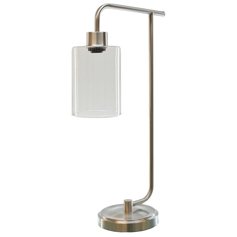 Tlc Brushed Steel Clear Task Lamp