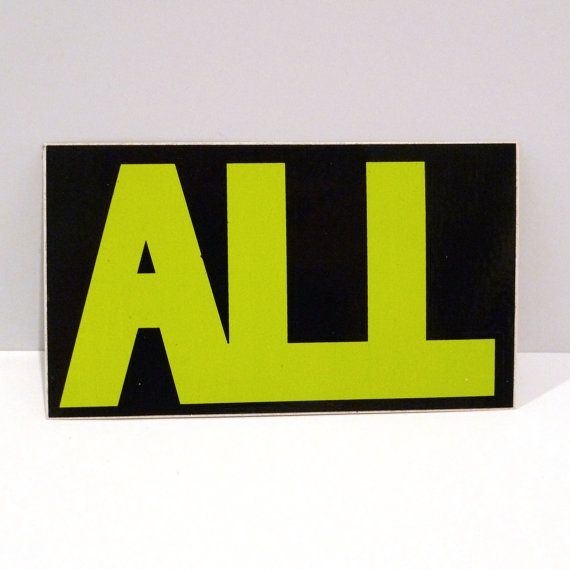 All punk band sticker vintage epitaph record label by mohawkmusic