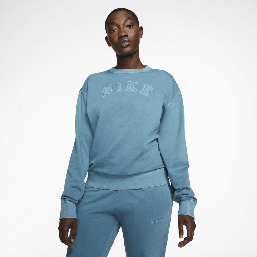 Predownload: Nike Sportswear Women S French Terry Crew Cerulean Nike Sportswear Women Women Hoodies Sweatshirts Fleece Pullover Womens [ 1080 x 1080 Pixel ]