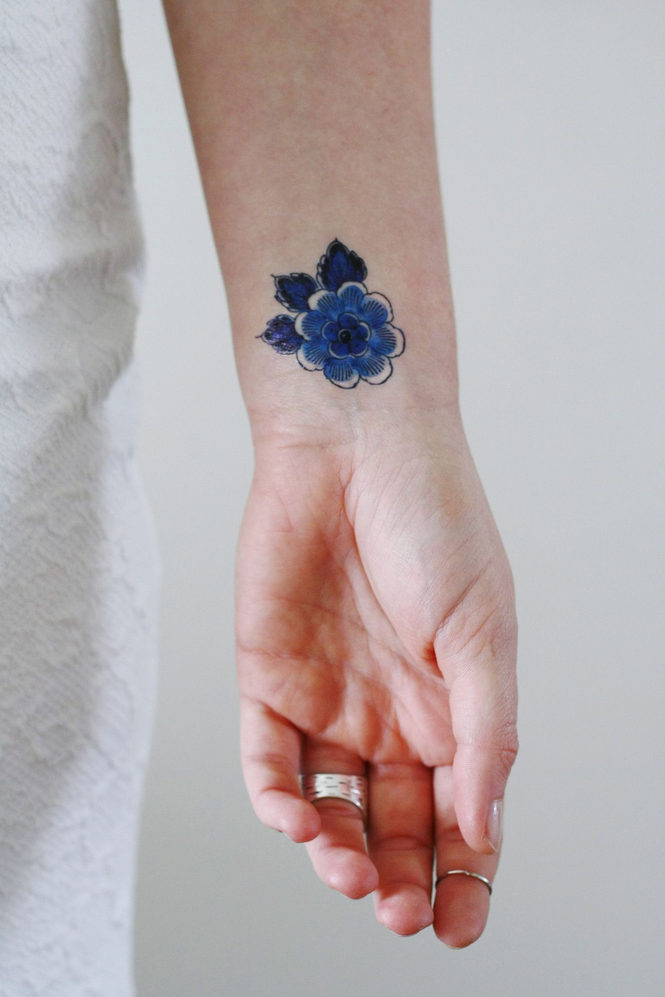 Small delft blue flower tattoo tattoos pinterest tattoos blue small delft blue flower tattoo izmirmasajfo