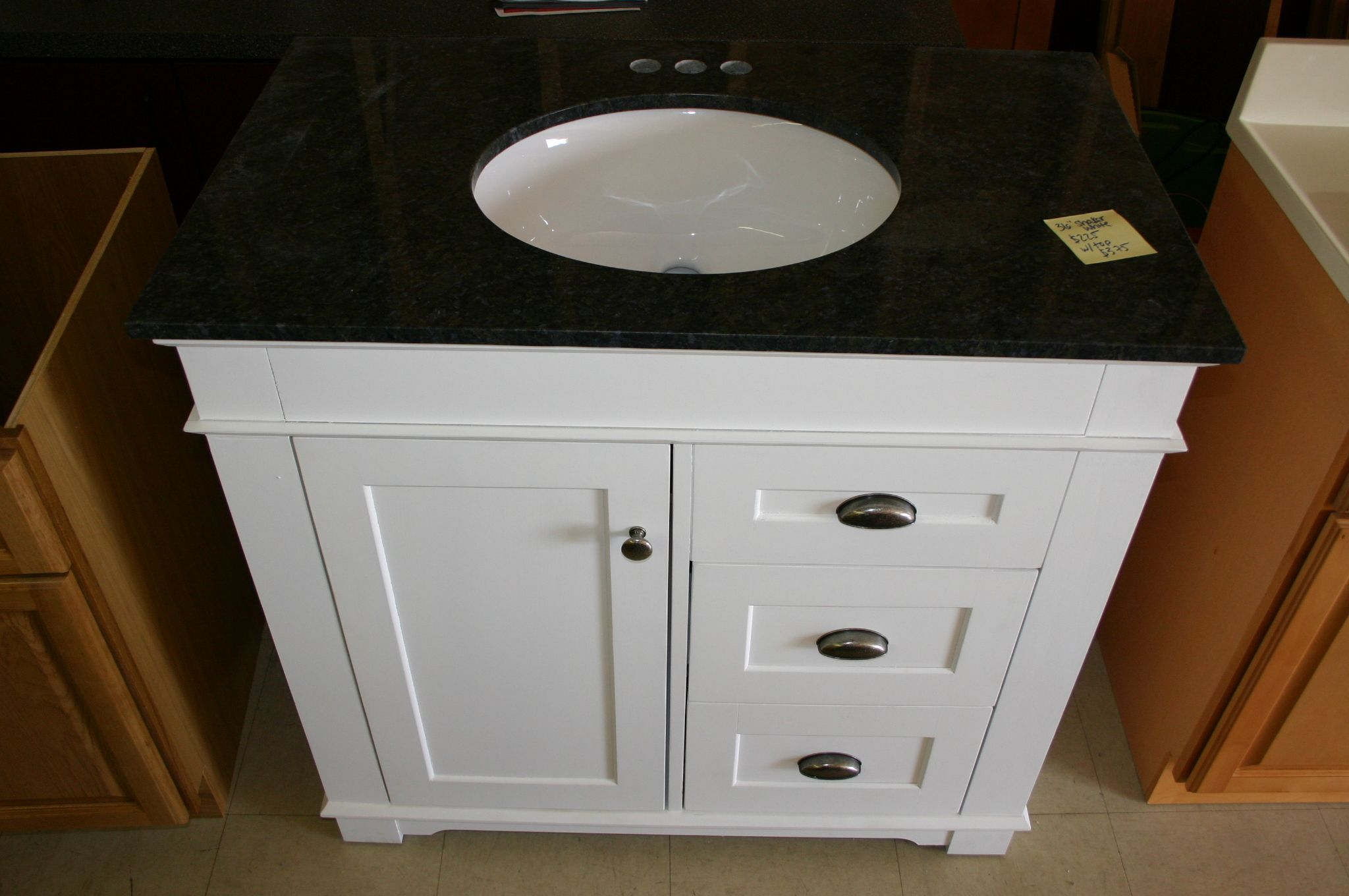 Single Vanity Cabinet White Shaker Shaker Vanity Striking Auburn Stained Shaker Style Bathroom