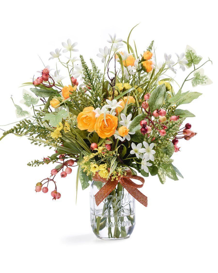 Mixed Wildflowers Silk Flower Arrangement See This Great Image
