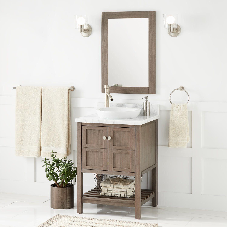 24 Olsen Console Vanity Semi Recessed Sink Ash Brown Brown Bathroom Vanity Undermount Sink Vanity [ 1500 x 1500 Pixel ]