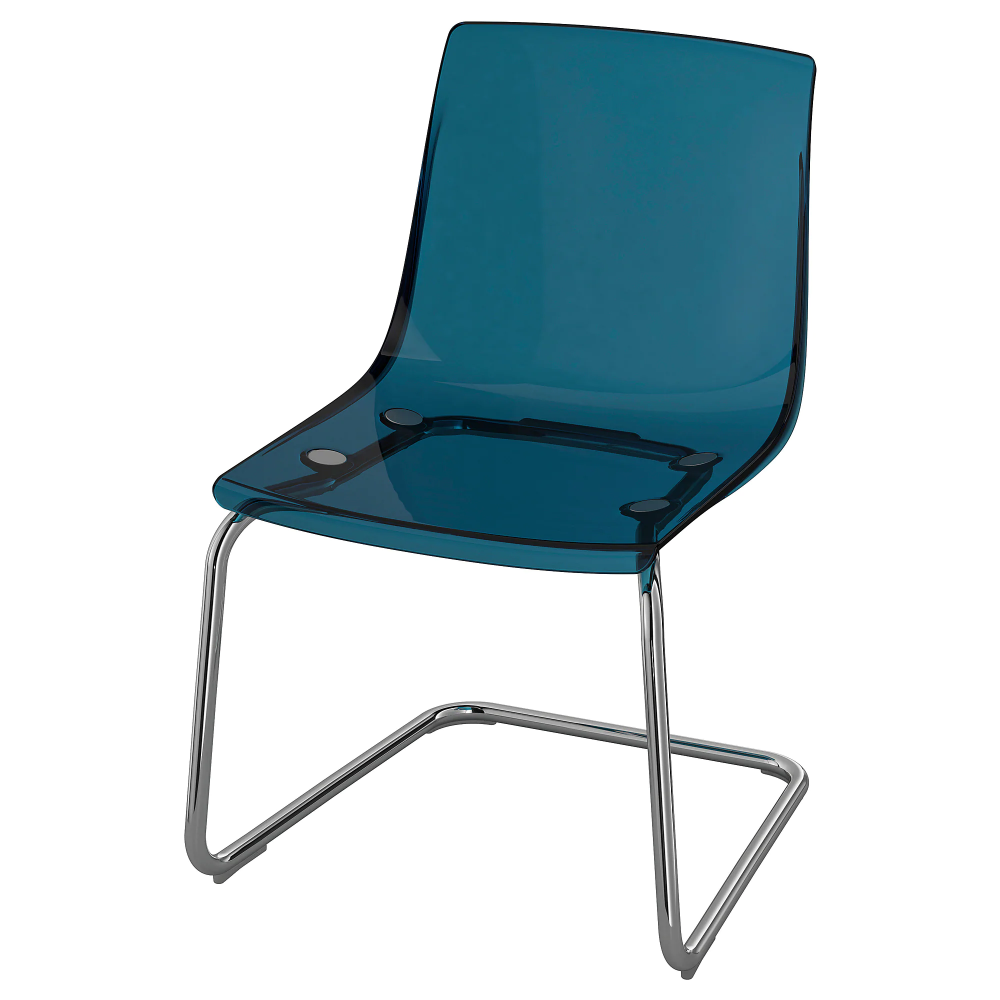 Tobias Szek Kek Kromozott Ikea Transparent Chair Chrome Plating Tobias