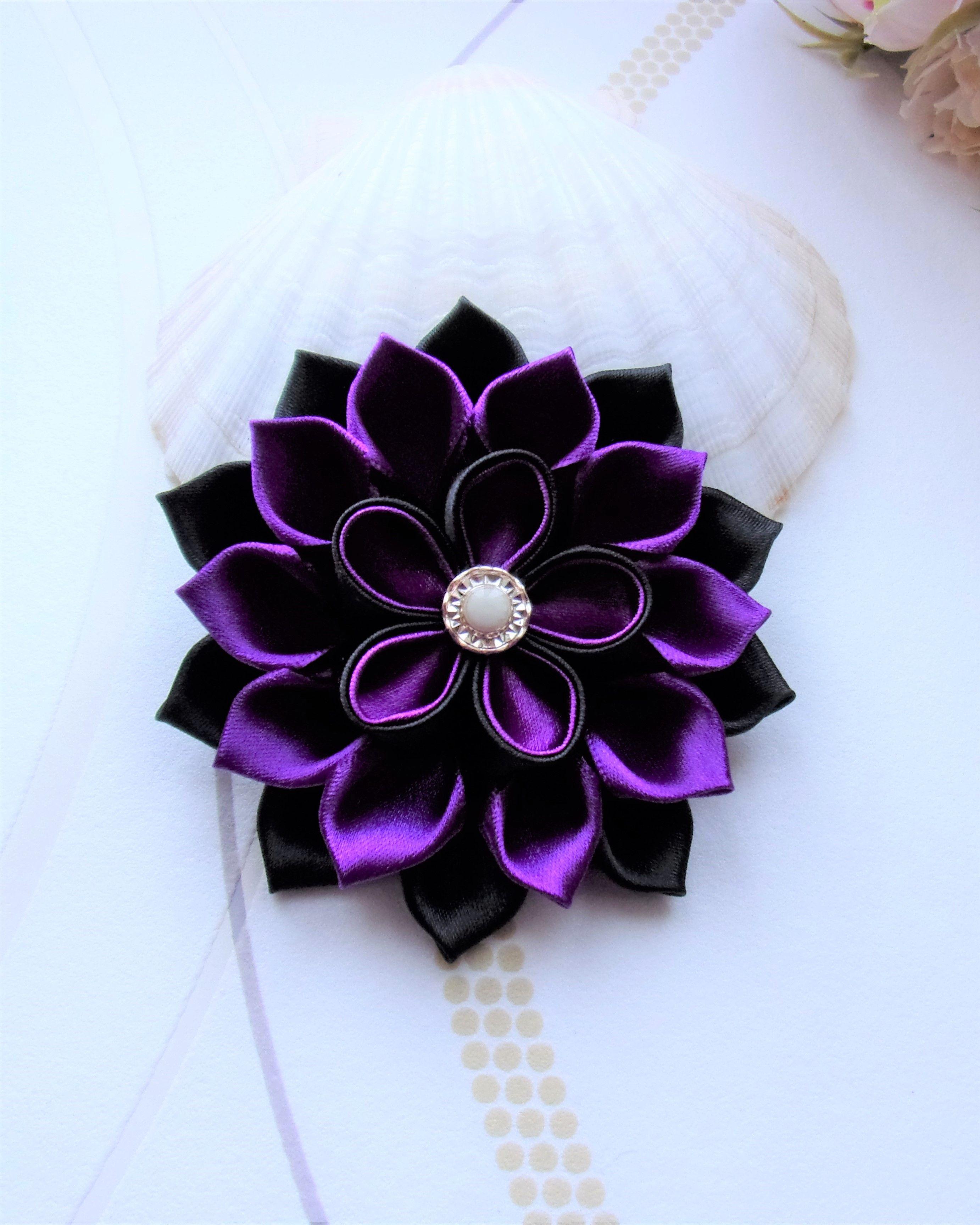 Flower French Barrette Hair Clip