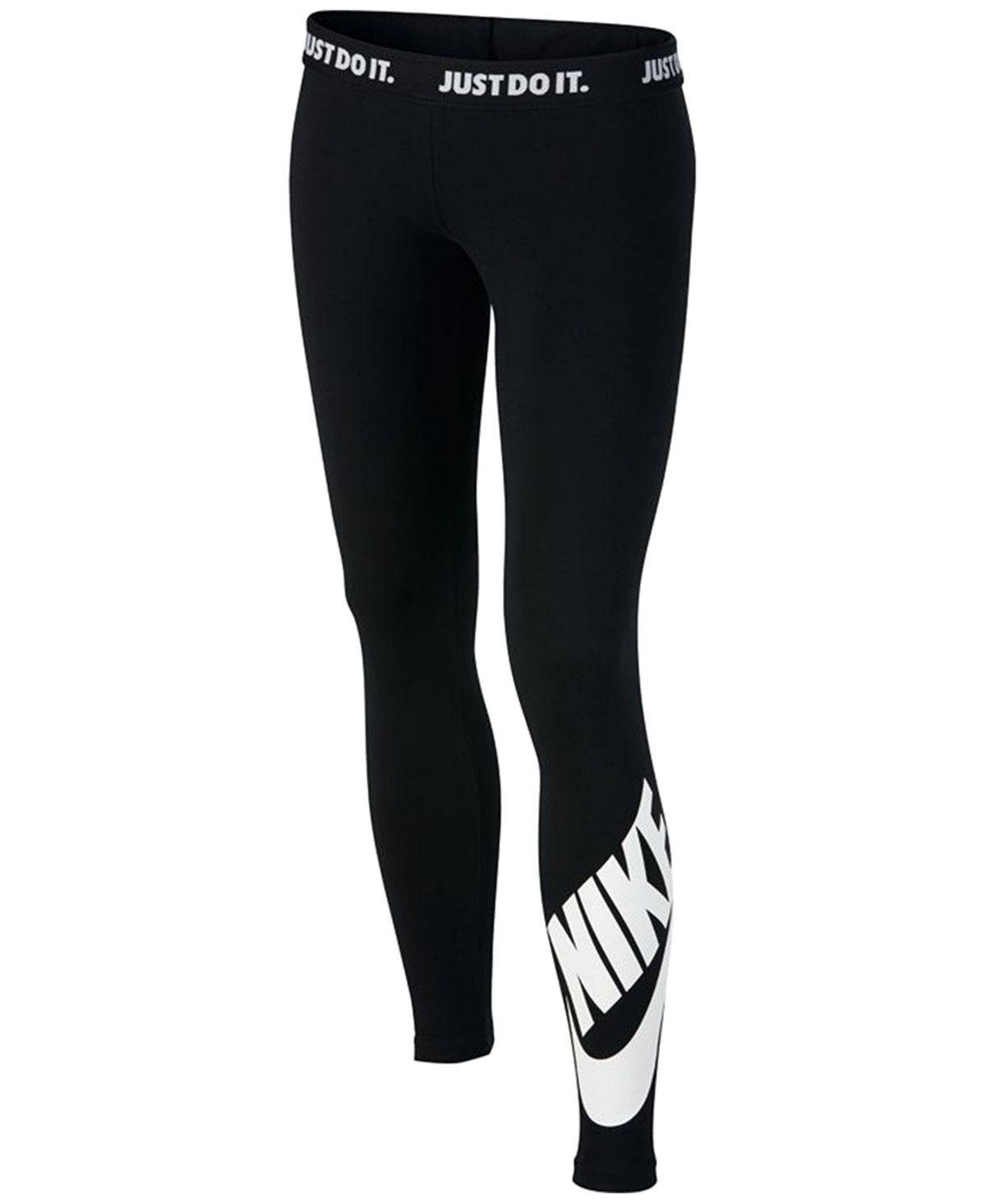 41486d1a68a35e Nike Logo Graphic Leggings, Big Girls (7-16) - Leggings & Pants - Kids &  Baby - Macy's