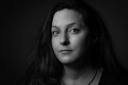 Amy © Nathan Larson Photography  #portrait #blackandwhite #woman #paulcbuff #profoto #natural #photography #smile #nathanlarson