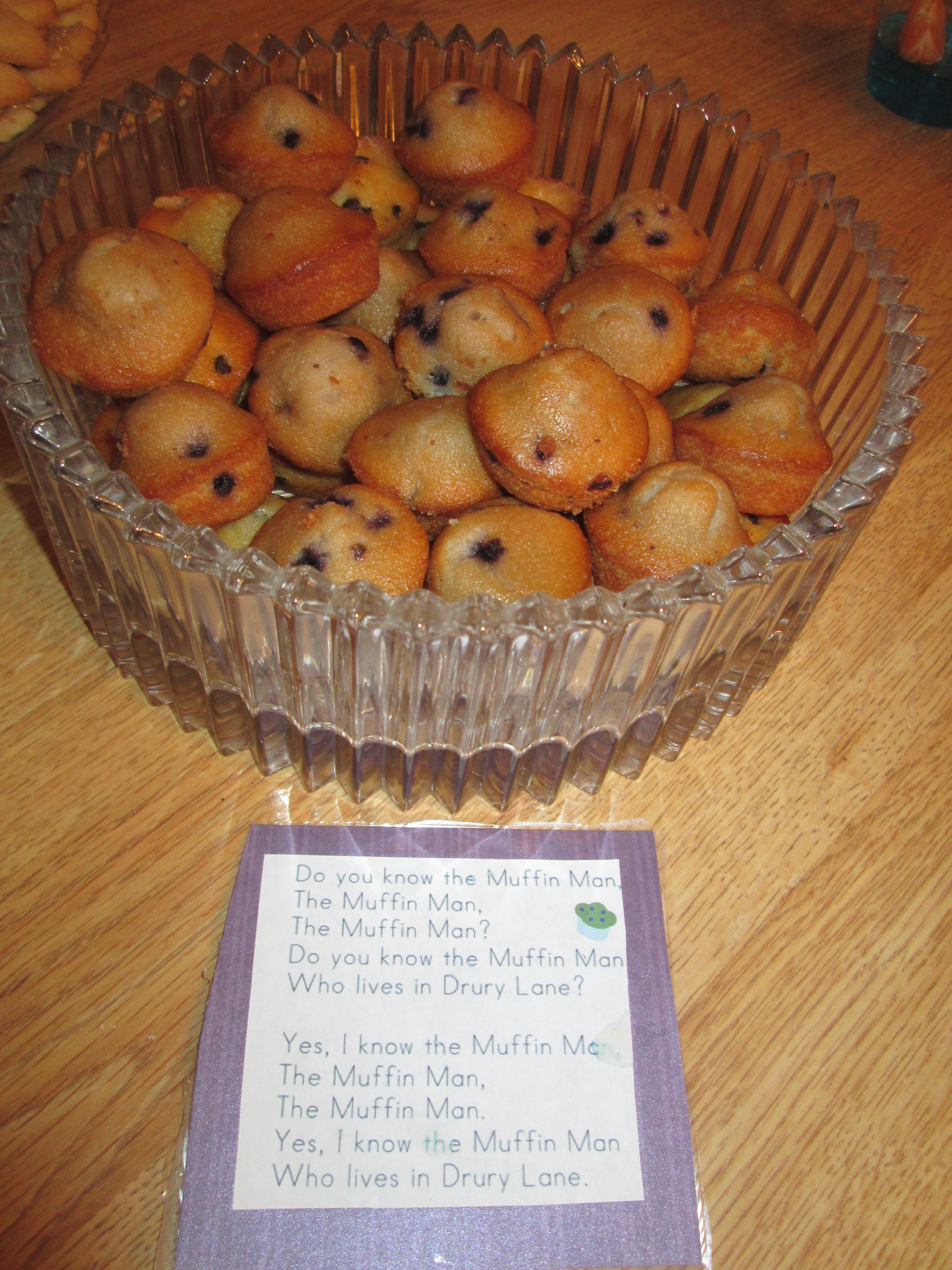 Mini Muffins For Do You Know The Muffin Man