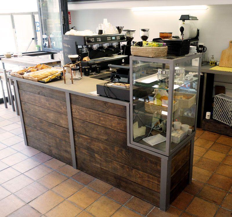 Mueble madera cafeter a barcelona mostradores - Mostradores de bar ...