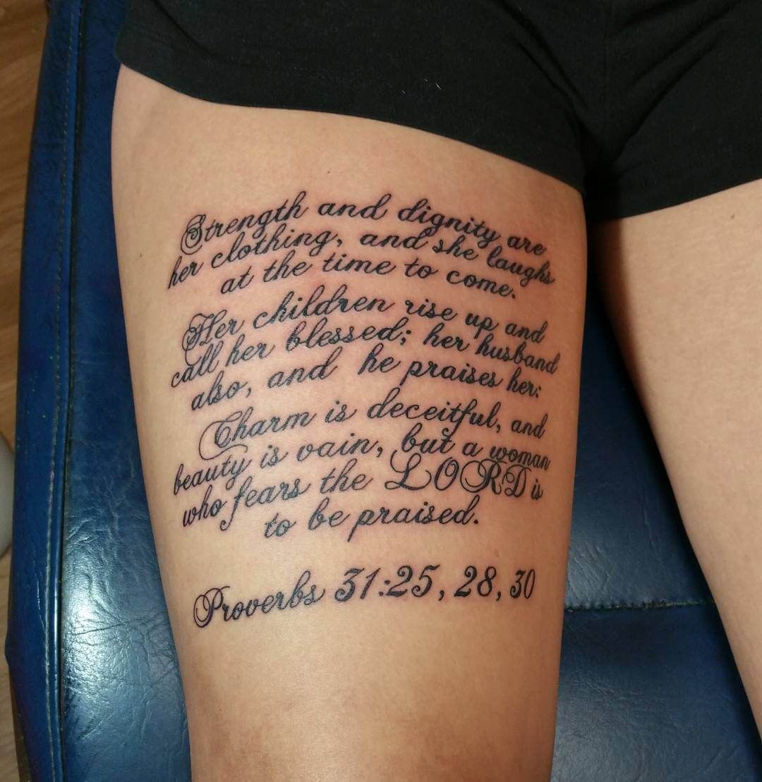 50 Scripture Tattoos for Women | tattoos | Scripture ...