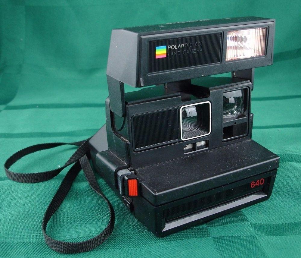 polaroid 600 land camera 640 black rainbow camera untested rh pinterest ca Polaroid 600 Land Camera Battery Polaroid Camera 600 Series