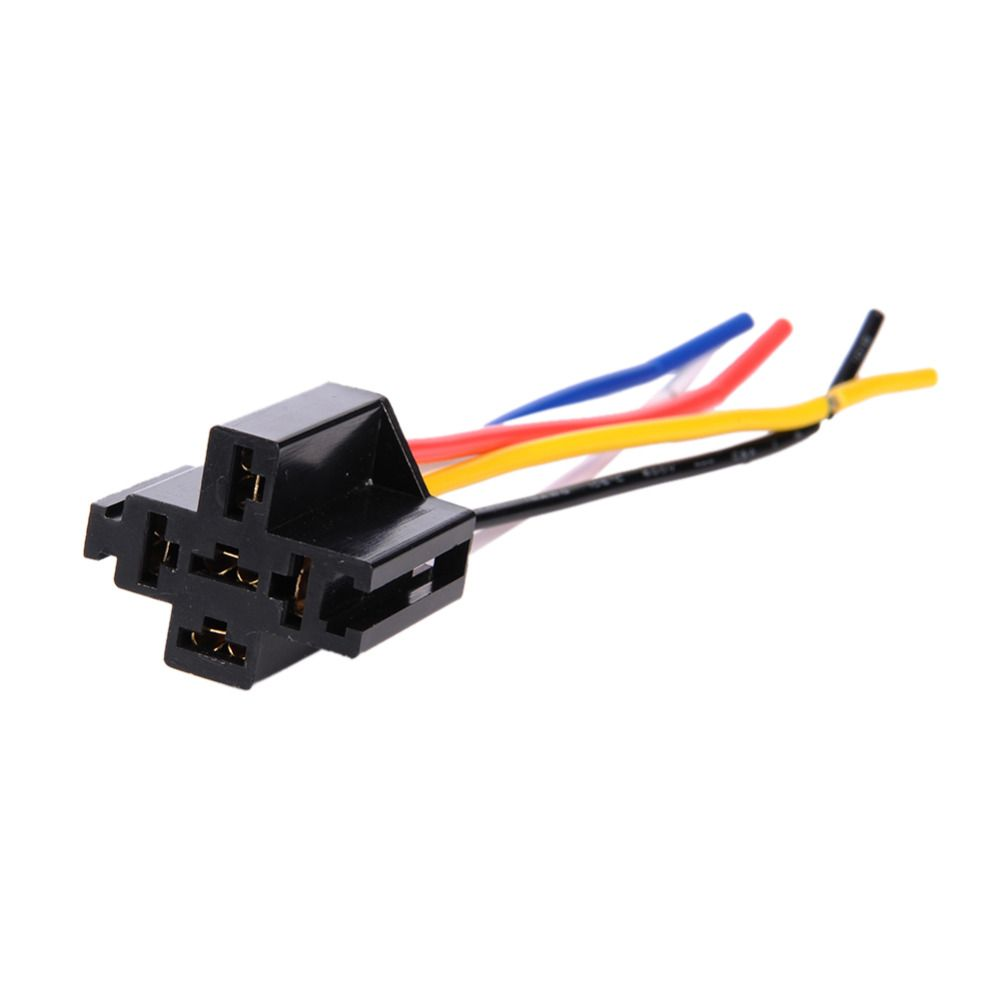 12V 40A Pre Wired 5 Pin Relay Mounting Base Socket Holder 5 road The