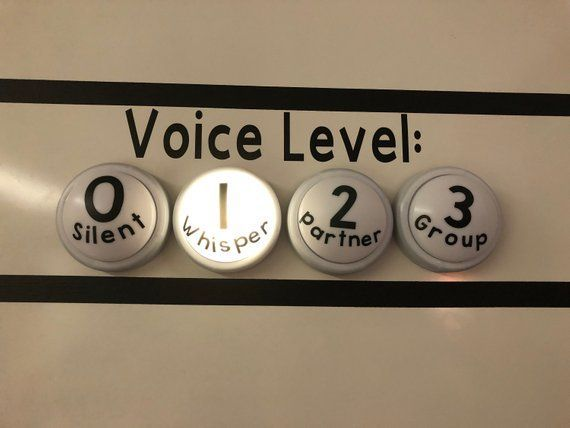 Voice Level Lights #classroomdecor