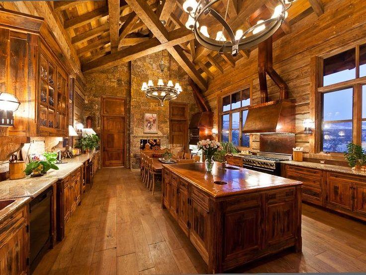 Beautiful Log Cabin Kitchen Christine Smythe Yoshimura An Island