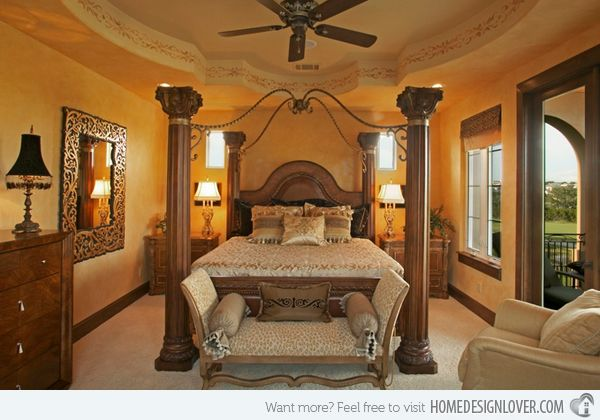 15 Extravagantly Beautiful Tuscan Style Bedrooms | my ...
