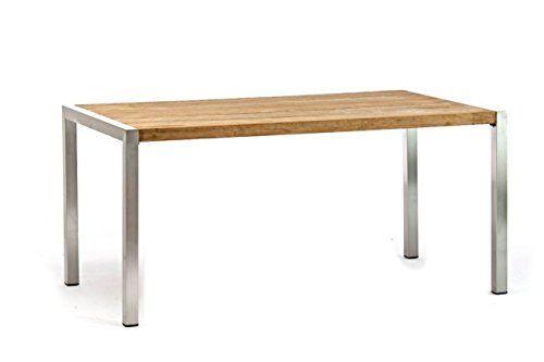 Esstisch Destiny Tisch Macao 160 x 90 Edelstahl Teak Klapptisch ...