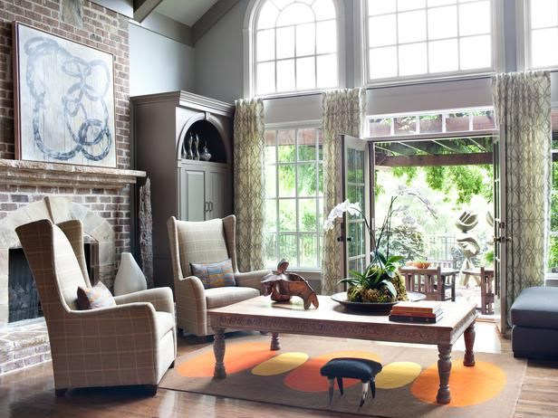 Transitional living rooms from lisa aharam designers  portfolio home garden television also rh pinterest