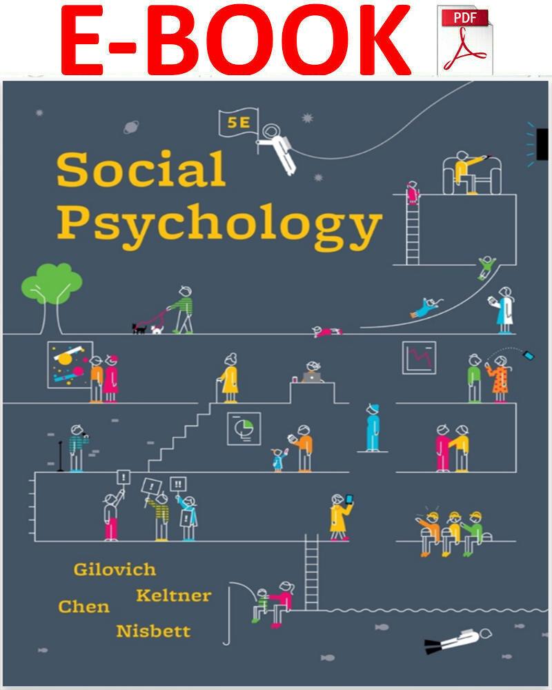 Social Psychology 5th Edition By Tom Gilovich Pdf Psychology Books Social