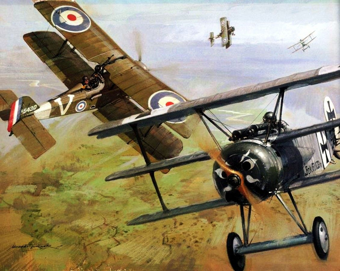 WW1 Dogfight: Sopwith Camel vs Fokker Dr.1