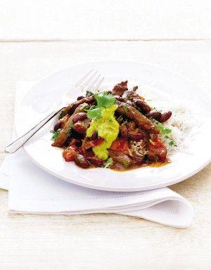 Beef steak chilli-con-carne