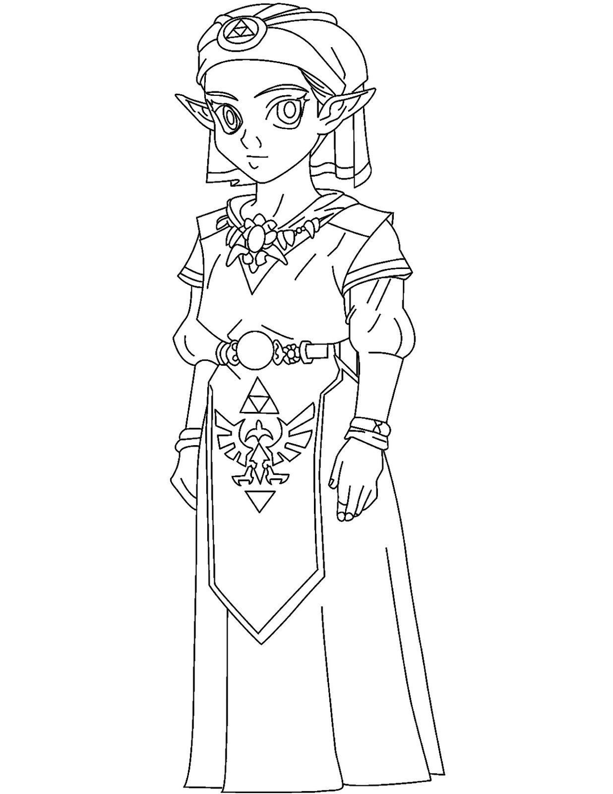 printable coloring pages zelda video games video games