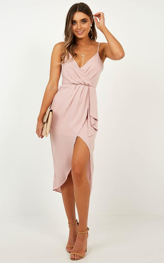 Cant Buy My Love Dress In Blush Produced By SHOWPO