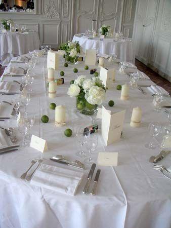 Id es de d coration de mariage vert blanc - Comment faire une decoration de table ...