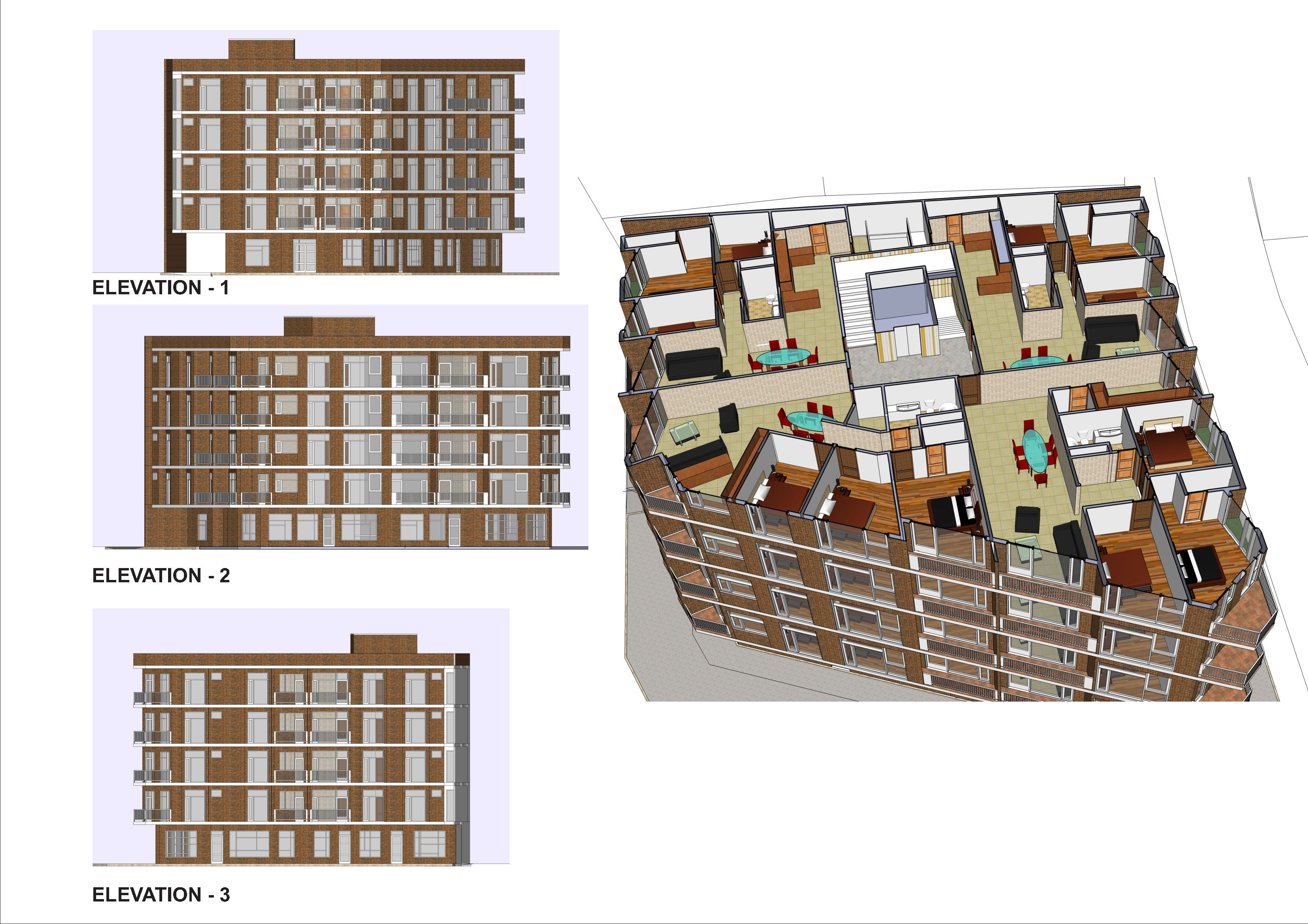 Apartment building plans location aksaray turkey new for Small residential building plan