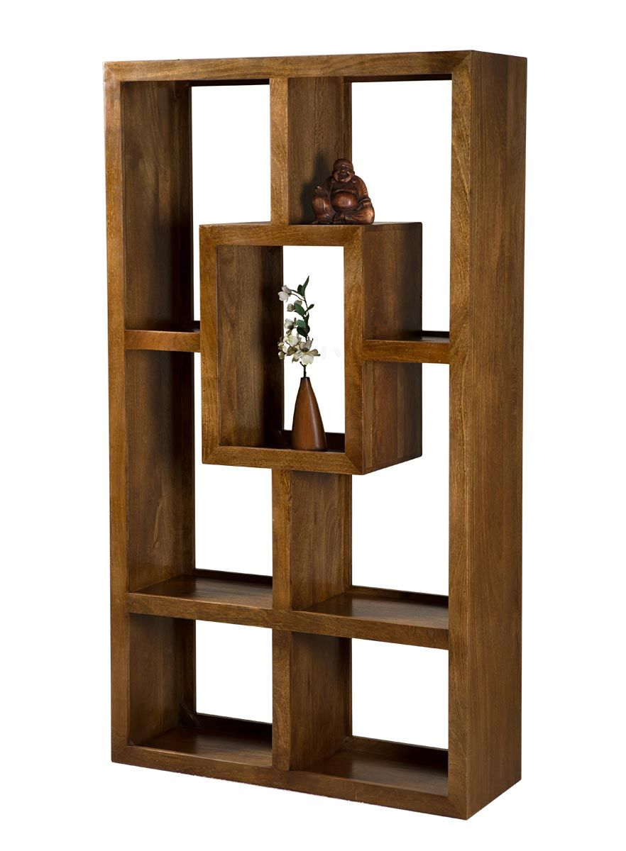 Dakota Mango Tall Open Bookcase Shelving Unit 1