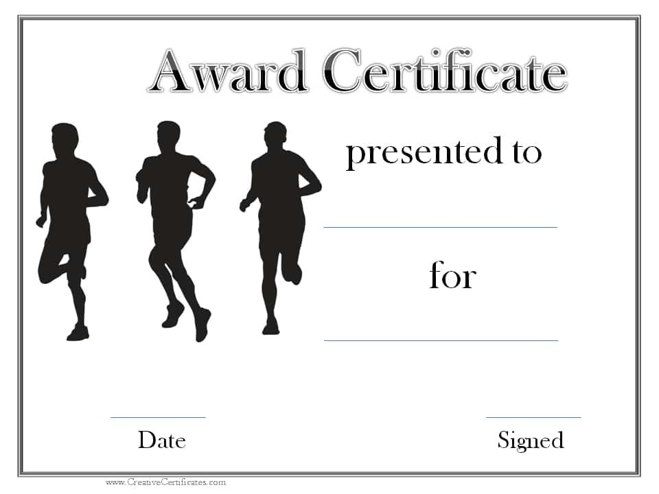 Black and white sports award track awards pinterest sports track and field certificate templates free customizable with our online certificate maker many more sports awards on this site they are all free yadclub Image collections