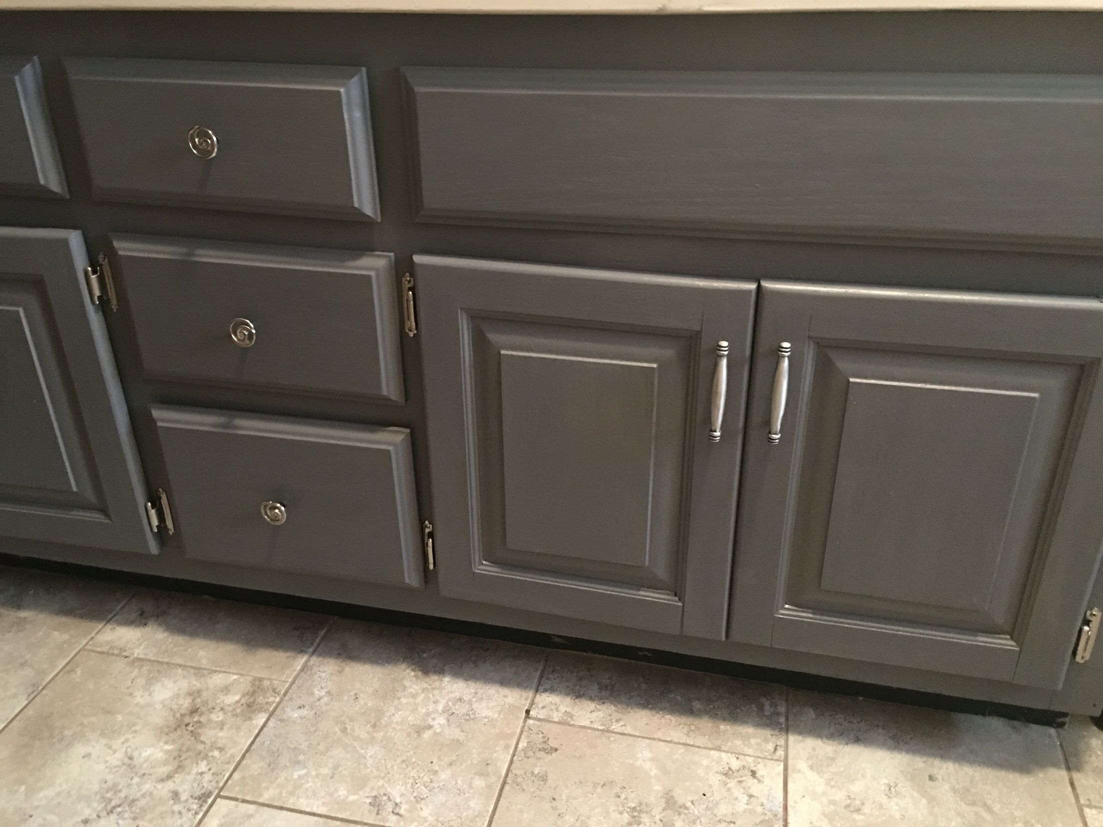 General finishes milk paint driftwood gray bathroom vanity makeover the things i do Bathroom cabinets gray