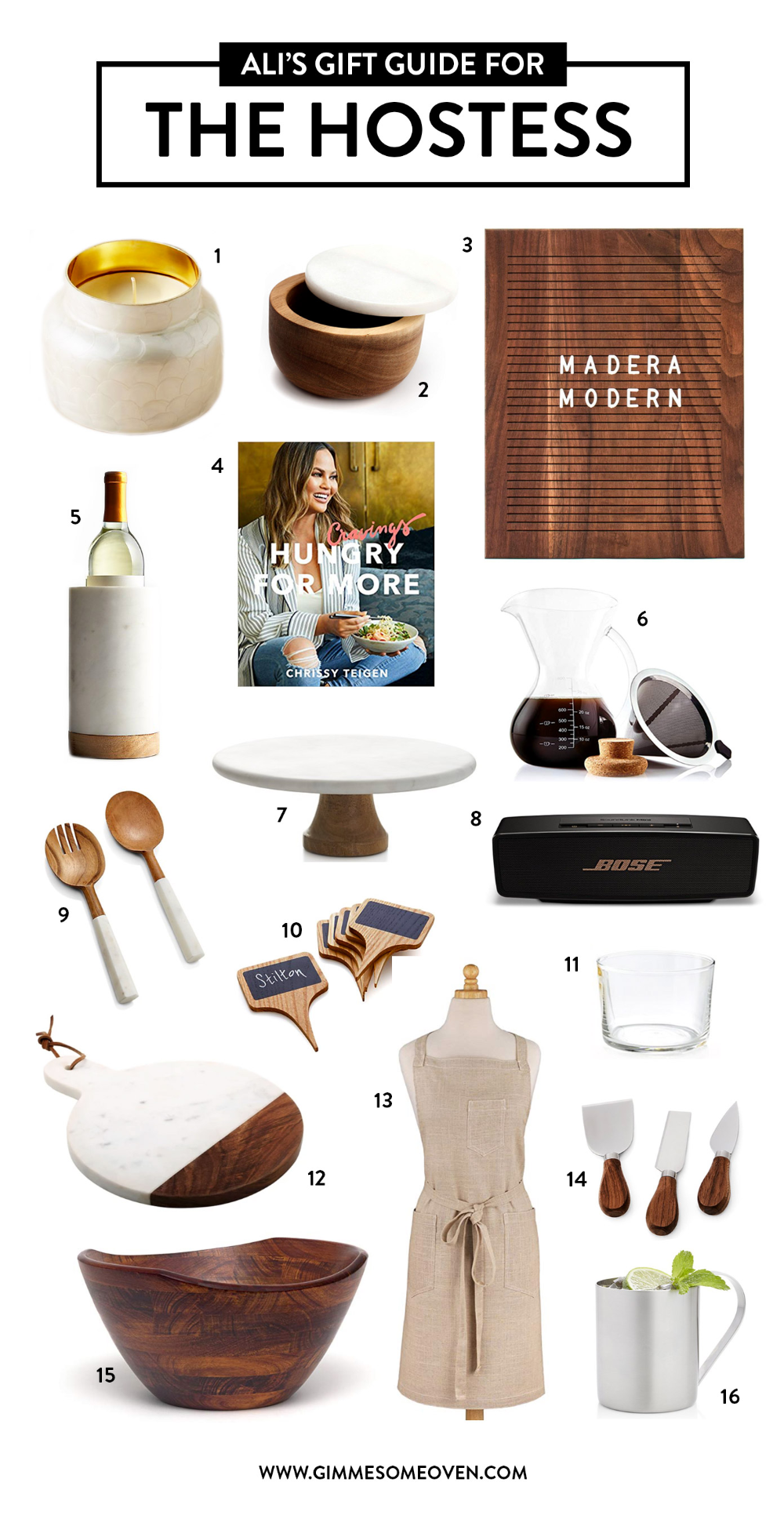 Holiday Gift Guide: HOSTESS EDITION | Lots of fun gift ideas for friends who love entertaining, hosting, cooking, baking, gathering people around the table. | gimmesomeoven.com #gift #guide #hostess #entertaining #home #decor #tabletop
