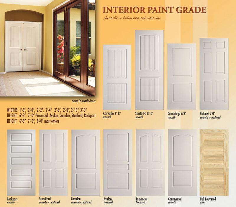 paint grade interior doors