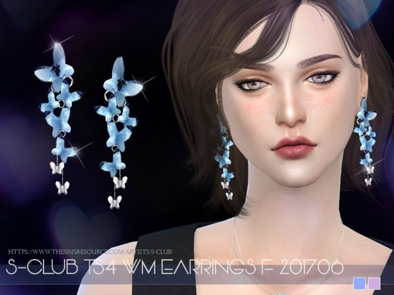 EARRINGS for female, 2 colors, enjoy, thank you.  Found in TSR Category 'Sims 4 Female Earrings'