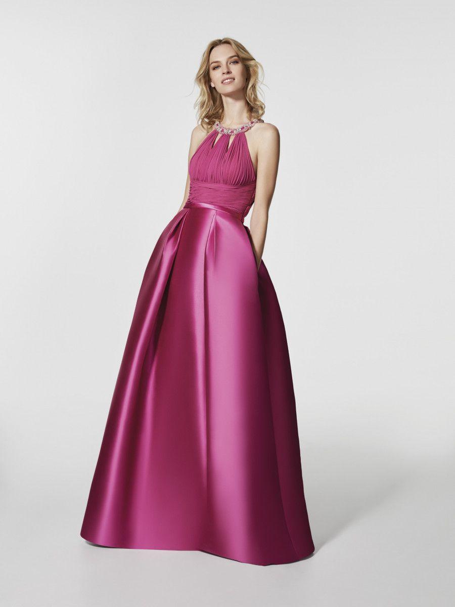 Foto vestido de fiesta rosa (62050) | Escotes | Pinterest | Fotos ...