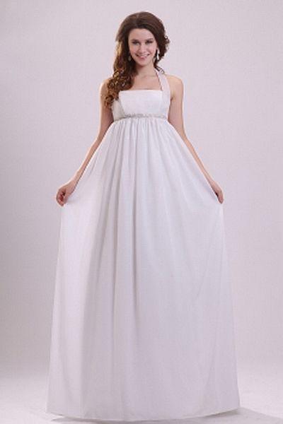 Robe blanche mousseline de soie