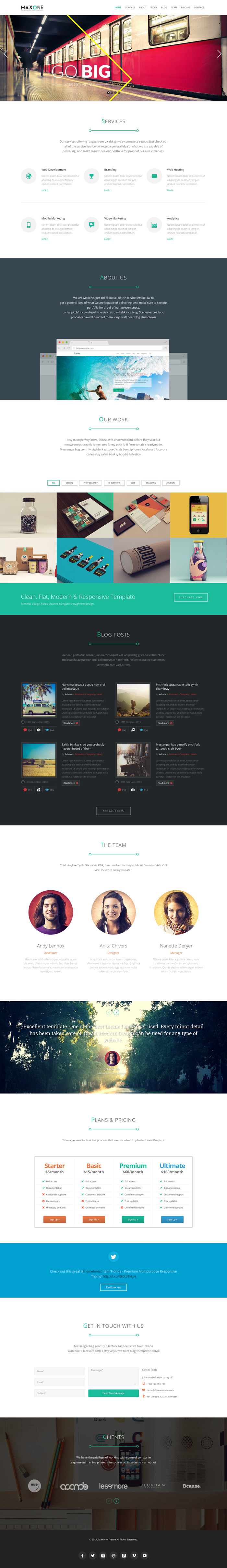 MaxOne is a Responsive, Retina-Ready One-Page template with a minimalist, simple, elegant and clean style, a strong focus on contents and readability. #webdesign #template