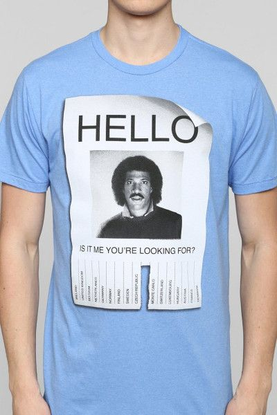 b3529e0fe9e Urban Outfitters Hello Lionel Richie Tee in Blue for Men
