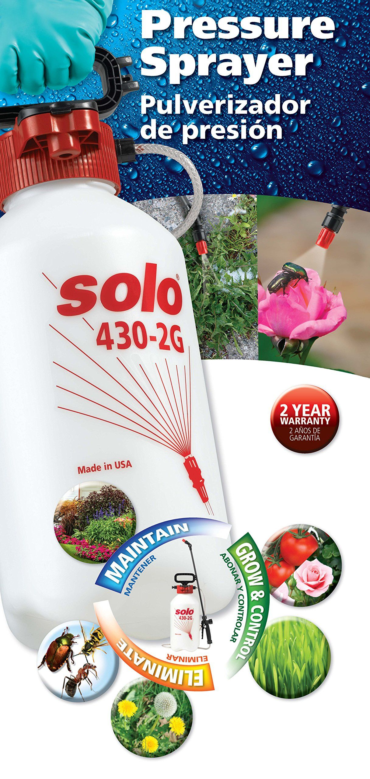 Solo 4302g 2gallon Farm And Garden Sprayer With Nozzle Tips For Multiple Spraying Needs Find Out More About The Great Product At The Sprayers Gallon Nozzle