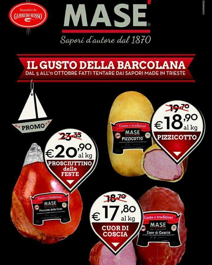 #Barcolana2015. Le nostre promo attive per la mitica #Barcolana 2015! Vi aspettiamo nei nostri punti vendita con dei fantastici sconti oppure nei nostri ristoranti con magnifici piatti!!  Visita il nostro sito www.cottomase.it!  #cottomase #cottotrieste #slowfood #streetfood #gamberorosso #tradizione e #gusto #cracco #bastianich #giallozafferano #foodporn #Expo2015 #Milano #food #eat #eating #italian #italy #ham #made #in #trieste #cotto #quality #masterchef